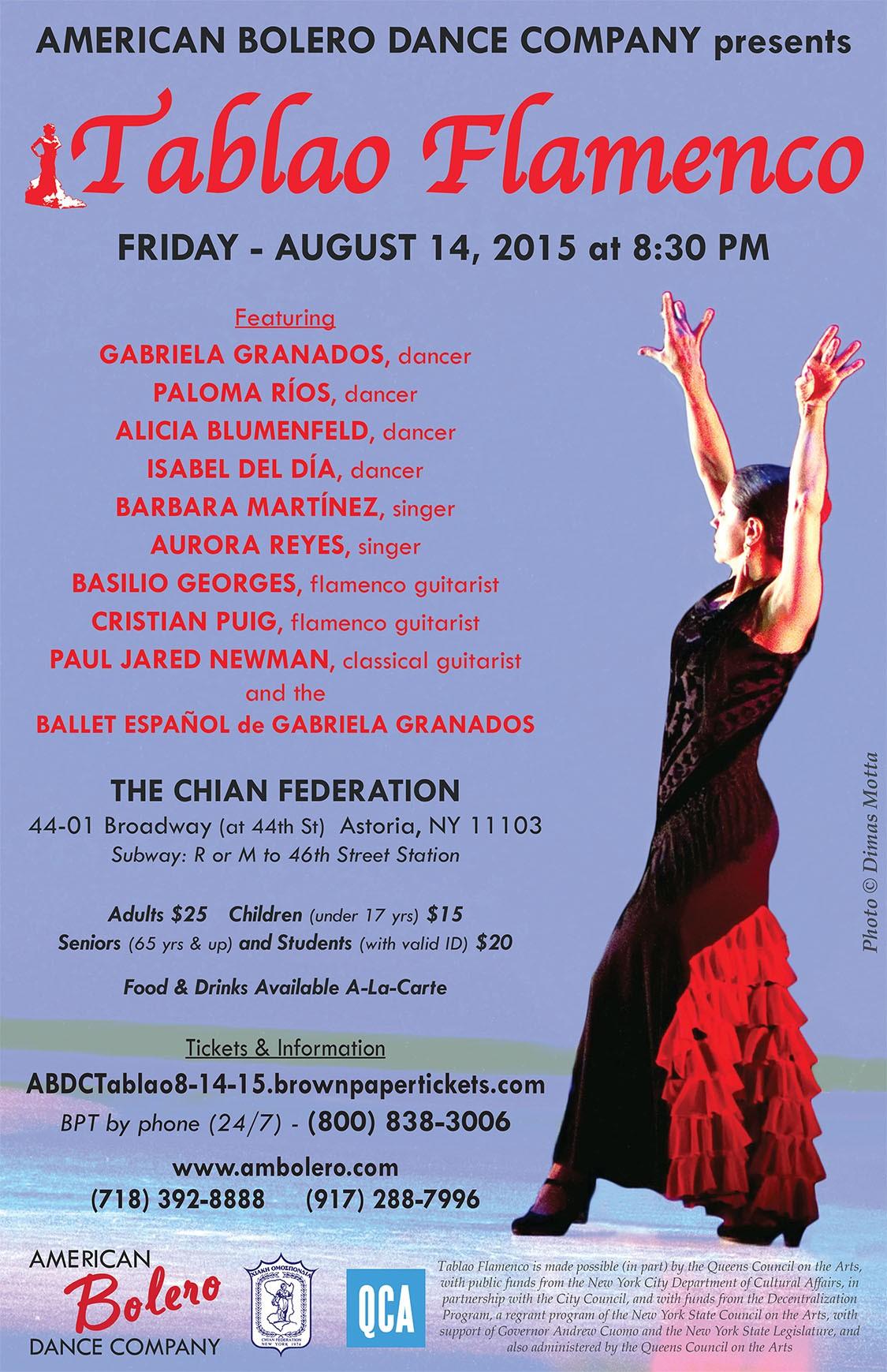 American Bolero Dance Company presents Tablao Flamenco
