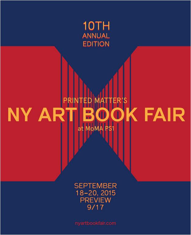NY ART BOOK FAIR STARTS ON SEPT. 17TH