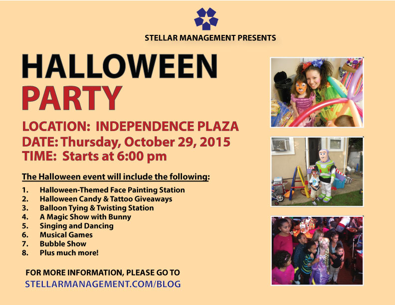 Kid's Halloween Party on Thursday. Oct. 29th