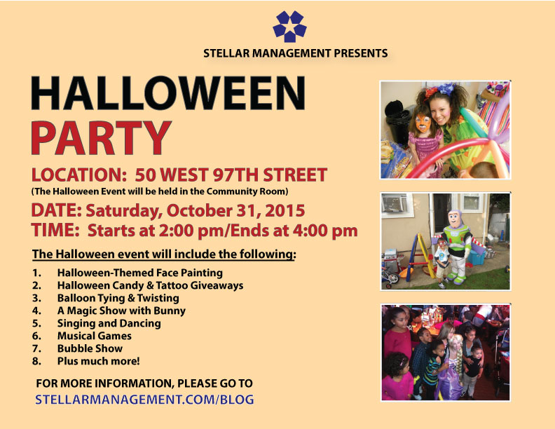 Kid's Halloween Party on Saturday. Oct. 31st