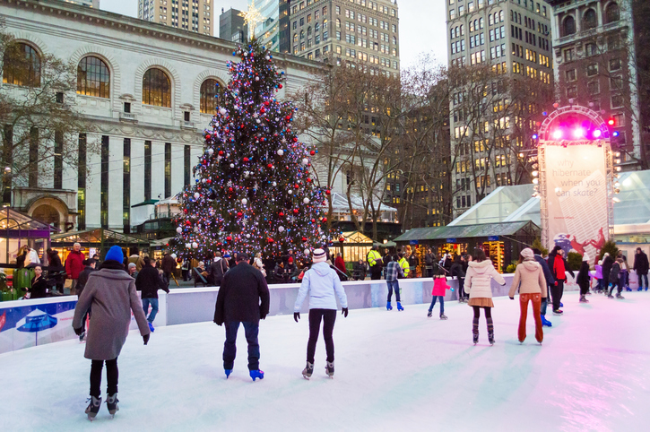 Winter Village Tree Lighting at Bryant Park