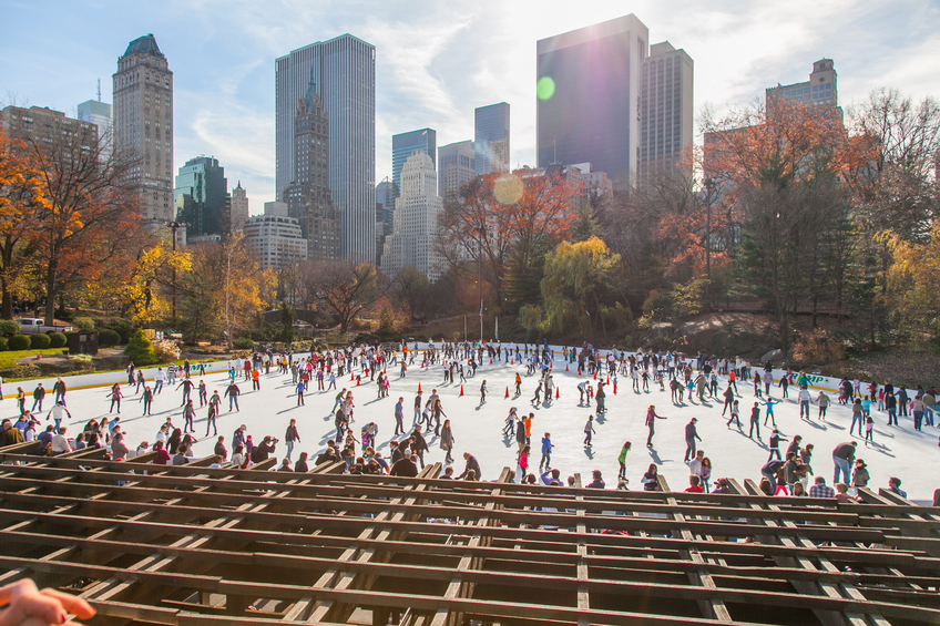 Ice Skating in Central Park image