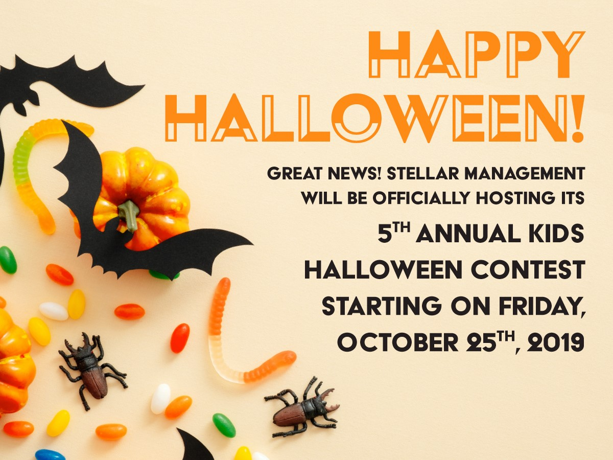 Stellar Management 5th Annual Kids Halloween Cintest